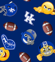 "University of Kentucky Wildcats Fleece Fabric 60""-Emoji, , hi-res"