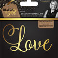 Sara Davies Signature Black & Gold 2.4\u0027\u0027x1.3\u0027\u0027 Metal Die-Love