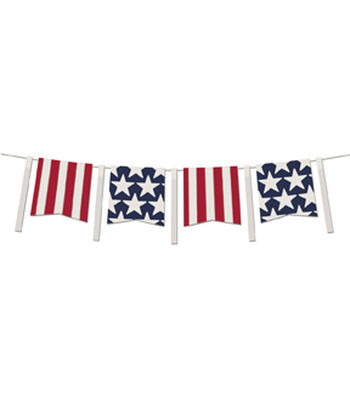 Americana Patriotic 5' Banner-Stars & Stripes