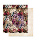 Prima Marketing Midnight Garden Double-sided Cardstock-More Roses Please