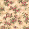 Mariposa Mauve Butterfly And Floral Trail Wallpaper Sample