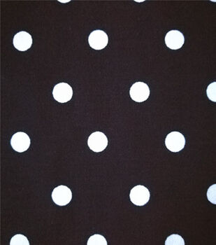 Summer Ponte Knit Fabric 57''-White Dots on Black