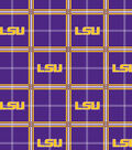 Louisiana State University Tigers Flannel Fabric 42\u0022-Plaid