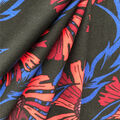 Knit Prints Double Brushed Fabric-Black & Red Floral