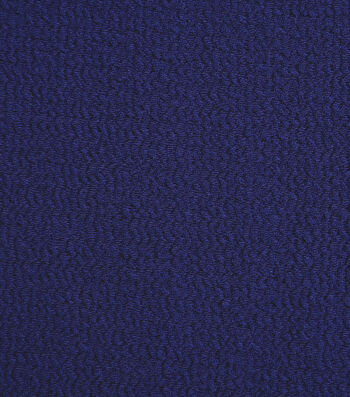 2 Yard Pre-Cut Silky Solid Crepe Knit Fabric-Navy Textured