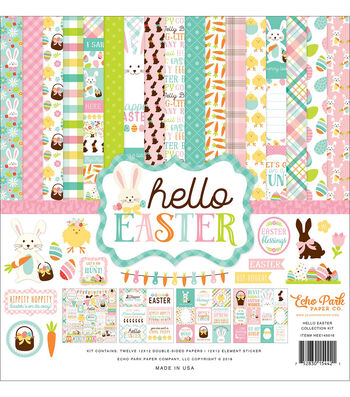 Echo Park Paper Company Hello Easter Collection 12''x12'' Kit