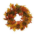 Blooming Autumn Berry & Leaf Wreath-Yellow & Green