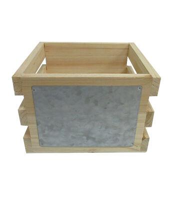 Wood & Metal Crate