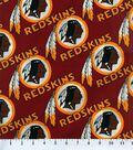 Washington Redskins Cotton Fabric 58\u0027\u0027-Logo Circles