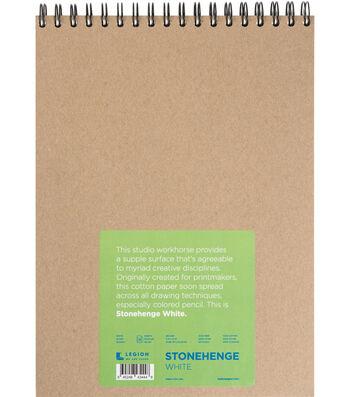 Stonehenge 32-sheet 9''x12'' 90 lbs. Spiral Paper Pad-White