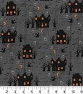 Halloween Cotton Fabric 43\u0022-Midnight Haunted House