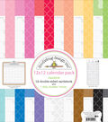 Doodlebug Design Daily Doodles 12\u0027\u0027x12\u0027\u0027 Calendar Pack-Rainbow