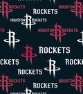 Houston Rockets Fleece Fabric 60\u0022-Tossed Print