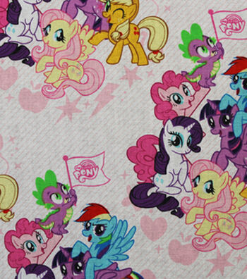 My Little Pony Packed Friends Cotton Fabric 44""