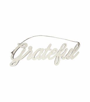 Simply Autumn Craft 14''x5'' Wood Grateful Word