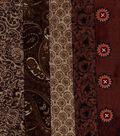 Jelly Roll Cotton Fabric Pack 2.5\u0027\u0027x42\u0027\u0027-Brown