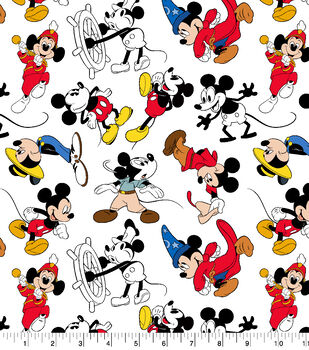 0936477c7 Disney Mickey Mouse Cotton Fabric-Mickey Through the Years