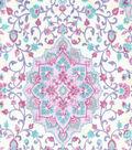 Premium Quilt Cotton Fabric-Medallions on Light Pearl