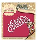 Yvonne Creations Traditional Christmas 2\u0027\u0027x3.25\u0027\u0027 Die-Merry Christmas