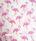 Smocked Dressing Cotton Fabric 30\u0027\u0027-Flamingo