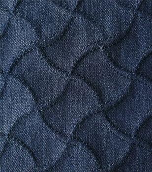 Denim Twill Fabric 53''-Dark Blue Textured Wave