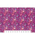 Premium Cotton Print Fabric 43\u0027\u0027-Dark Pearl Watercolor Garden