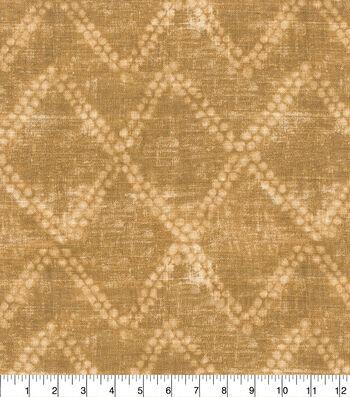Ellen DeGeneres Upholstery Fabric 54''-Chestnut Shibori Diamond