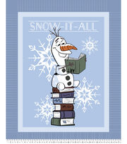 Disney Frozen 2 No Sew Fleece Throw-Olaf Snow It All, , hi-res