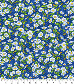 Keepsake Calico Cotton Fabric-Daisy Delight Blue