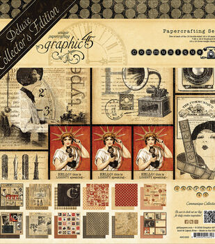 "Graphic 45 Deluxe Collector's Edition Pack 12""X12""-Communique"