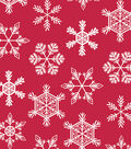 Maker\u0027s Holiday Christmas 52\u0027\u0027x90\u0027\u0027 Vinyl Tablecloth-Snowflake Toss