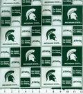 Michigan State University Spartans Cotton Fabric 43\u0027\u0027-Block