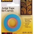 Scotch Artist Tape For Curves-1/8\u0022X10 Yards