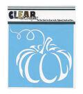 Clear Scraps 6\u0027\u0027x6\u0027\u0027 Plastic Stencil-Pumpkin