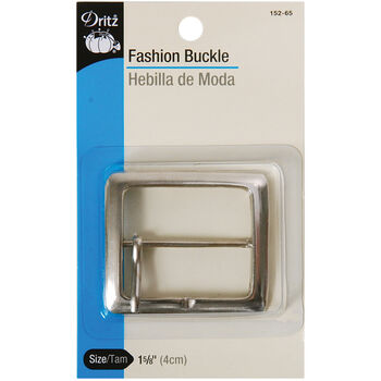 "Dritz Fashion Buckle- 2"" Square Nickel"