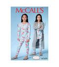 McCall\u0027s Pattern M7499 Girls\u0027/Girls\u0027 Plus Robe, Henley Top & Pants