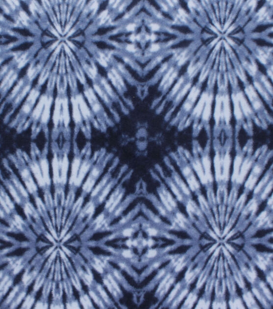 Anti Pill Plush Fleece Fabric Tonal Navy Tie Dye, , hi-res, image 2
