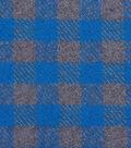 Plaiditudes Brushed Cotton Apparel Fabric -Blue & Gray Gingham Plaid