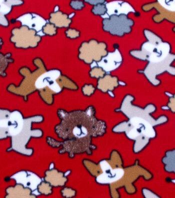 "Blizzard Fleece Fabric 59""-Scribbled Pups"
