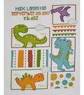 Bucilla 10.5\u0027\u0027x13.5\u0027\u0027 Counted Cross Stitch Kit-Dino Baby Birth Record