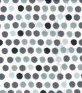 Snuggle Flannel Fabric -Multi Gray Dots
