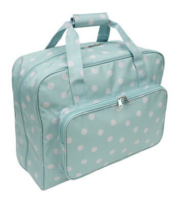 Everything Mary Sewing Machine Carry Case-Dots on Turquoise