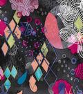 Modern Cotton Fabric 43\u0027\u0027-Colorful Abstract Fish
