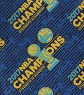 Golden State Warriors Cotton Fabric 44\u0022-Logo Tossed