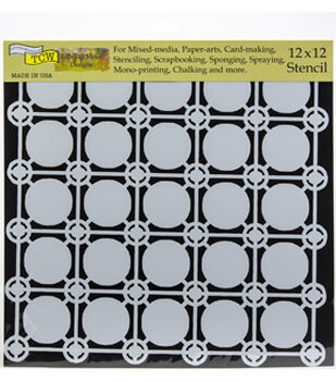 "Crafter's Workshop Template 12""X12""-Newport Tiles"
