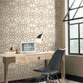 York Wallcoverings Wallpaper-White & Gold Shatter Geometric