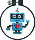 Learn-A-Craft Robot Counted Cross Stitch Kit-3\u0022 Round 11 Count