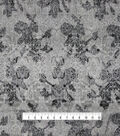 Silky Chiffon Fabric 57\u0022-Gray Black Regal
