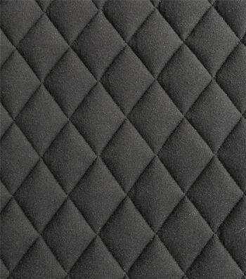 Sportswear Quilted Knit Fabric-Black