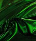 Metallic Apparel Bodre Fabric -Green Foil Dot